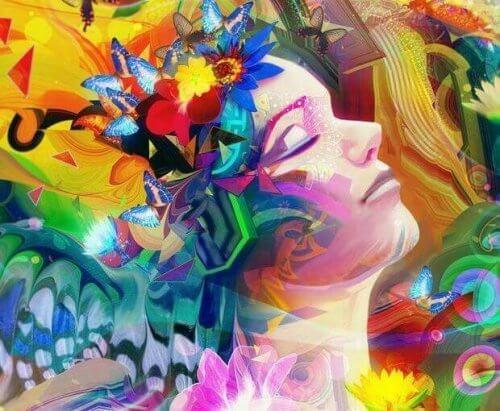 donna-piena-di-colori-fiori-e-farfalle-e1479402048645